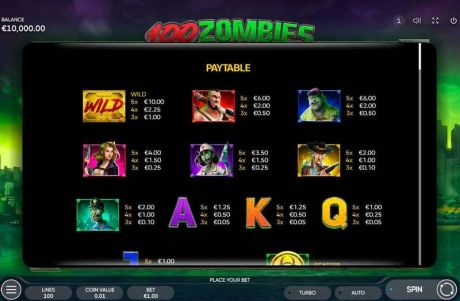 Play 100 Zombies - Slot Game