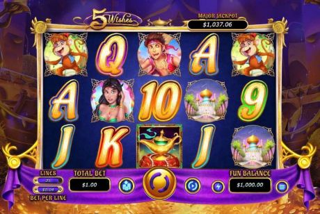 Play 5 Wishes - Slot Game -Slot Reels