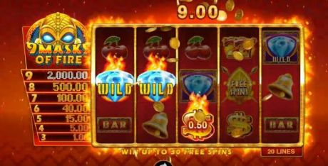 Play 9 Masks of Fire - Slot Game -Slot Reels