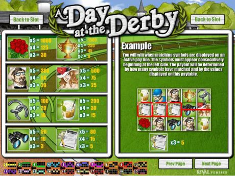 Play A Day at the Derby - Slot Game -Info
