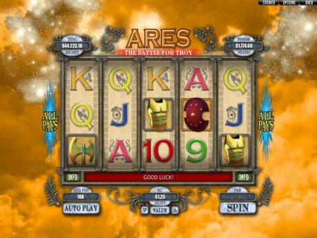 Play Ares: The Battle for Troy - Slot Game -Slot Reels
