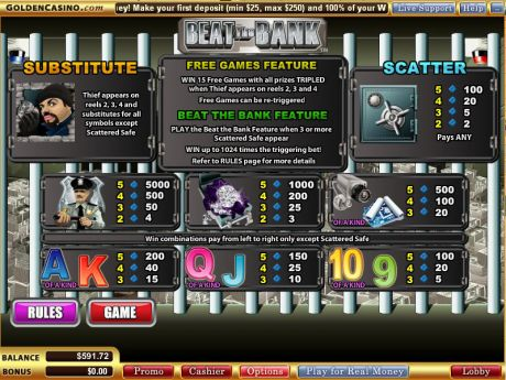 Play Beat the Bank - Slot Game -Info