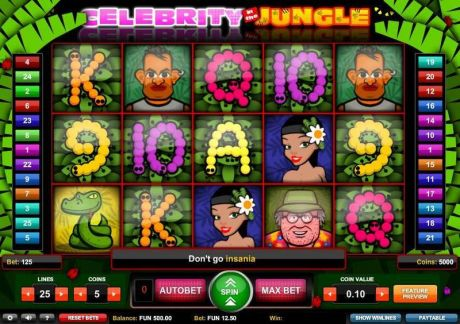 Play Celebrity in the Jungle - Slot Game -Slot Reels