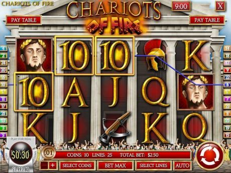 Play Chariots of Fire - Slot Game -Slot Reels