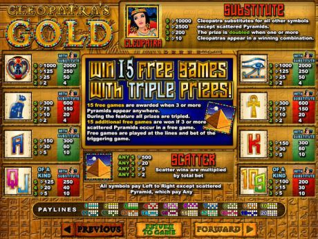 Play Cleopatra's Gold - Slot Game -Info