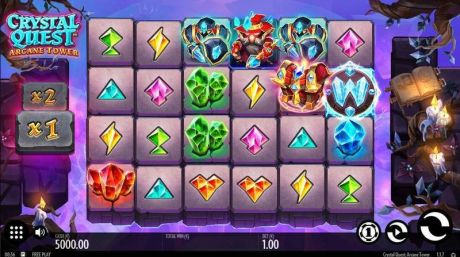 Play Crystal Quest: ArcaneTower - Slot Game -Slot Reels