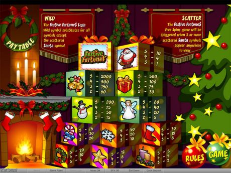 Play Festive Fortunes - Slot Game -Info