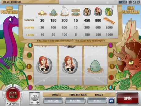 Play One Million Reels BC - Slot Game -Info