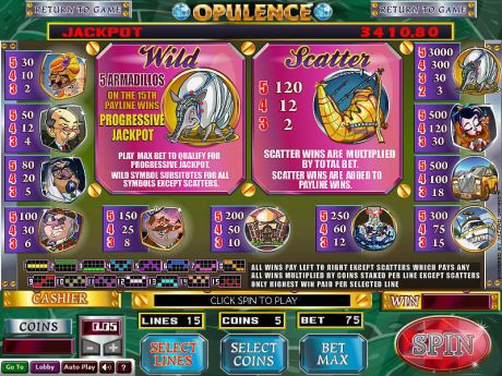 Play Opulence - Slot Game -Info