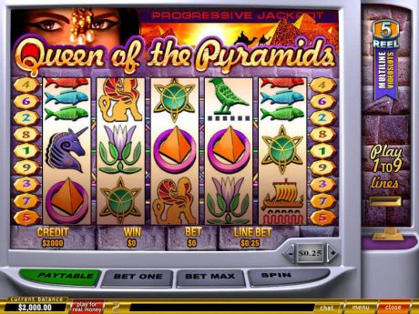 Play Queen of Pyramids - Slot Game -Slot Reels