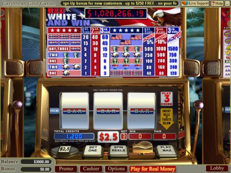 Play Red White and Win - Slot Game -Slot Reels