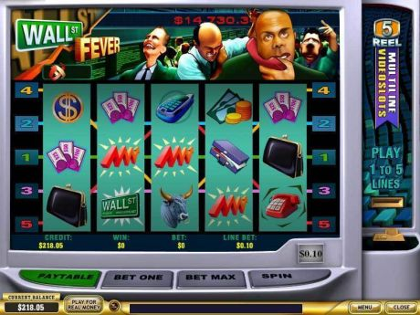 Play Wall st Fever 5 Line - Slot Game -Slot Reels