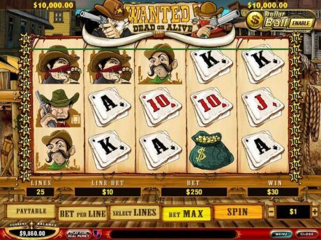 Play Wanted Dead or Alive - Slot Game -Slot Reels