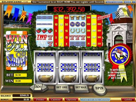 Play Win Place or Show - Slot Game -Slot Reels
